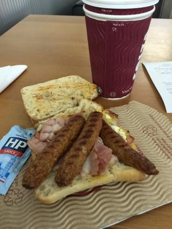 Costa Coffee All Day Breakfast panini