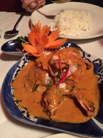 King Prawn red curry