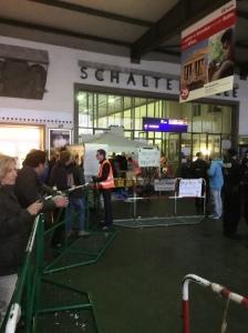 Migrant welcome in Munich